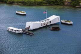 Pearl Harbor Memorial Aerial